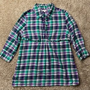 Gap Maternity The Fitted Boyfriend Shirt M